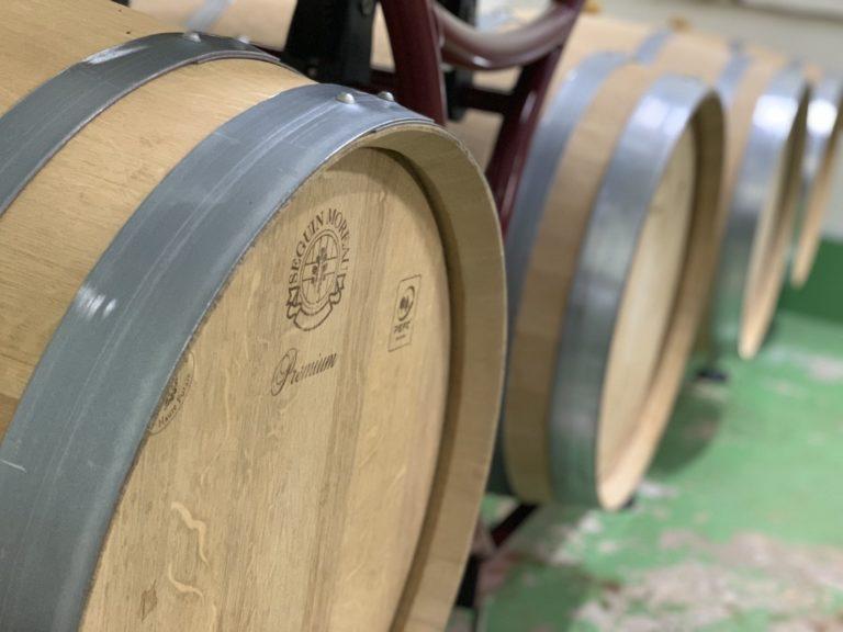 ワインの樽熟成、始めました!